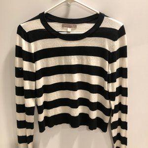 BANANA REPUBLIC black & white stripe sweater